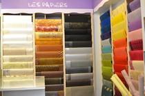 Vue de l'espace dédié aux papiers décoratifs