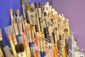 Vue espace pinceaux beaux-arts